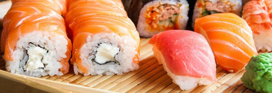 Achat de sushi à emporter